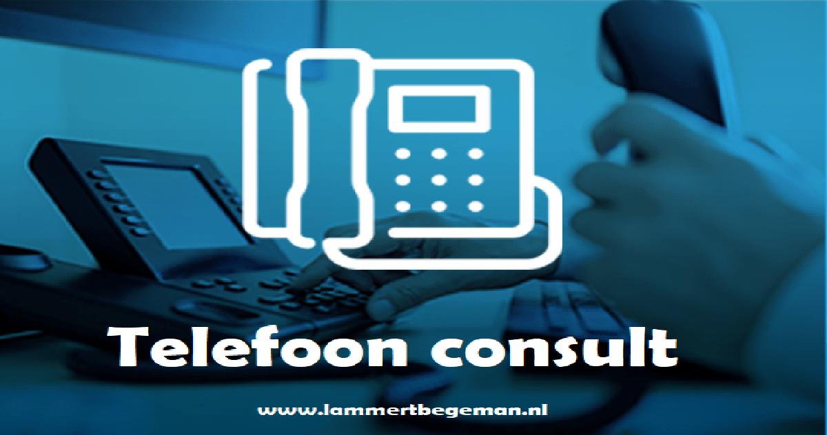telefonisch consult Lammert Begeman