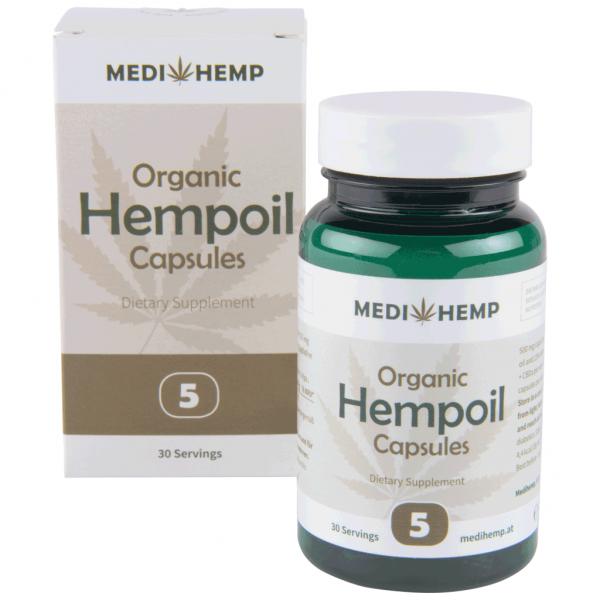 CBD capsules MediHemp 25mg 30 stuks